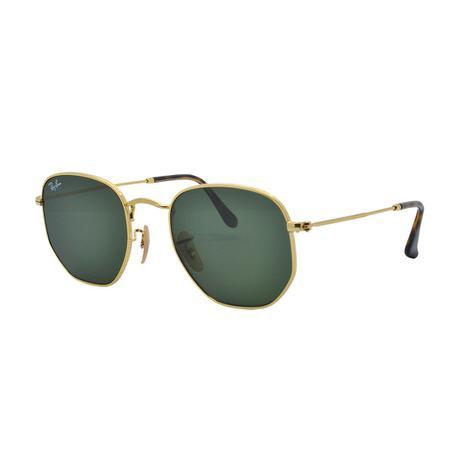 c96db1b6f Óculos de Sol Ray Ban Hexagonal Unissex RB3548NL 001 - Metal Dourado e  Lente G15