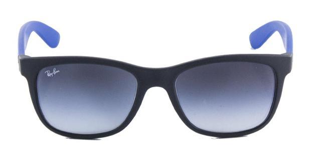 Óculos de Sol Ray Ban Highstreet Quadrado RB4219 Preto Fosco Haste Azul -  Ray-ban 49b97b884d