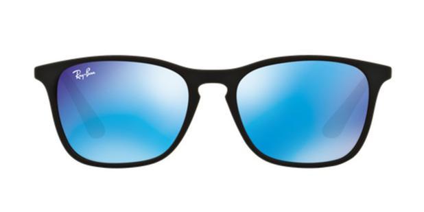 Óculos de Sol Ray Ban Junior Chris RJ9061 Preto Lente Azul Espelhada -  Ray-ban junior a1aee0e263