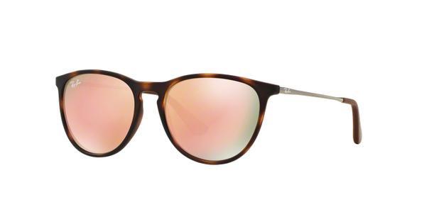 Óculos de Sol Ray Ban Junior Erika RJ9060 Tartaruga Lente Espelhada Rosa  Marrom - Ray-ban junior 74ed92cf87
