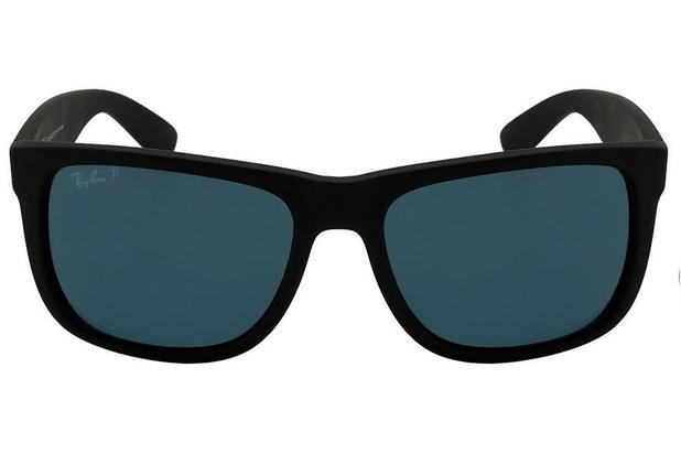 e42ec141494b7 Óculos de Sol Ray Ban Justin L RB4165L 622 2V 55 Preto Emborrachado  Polarizado