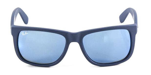 Óculos de Sol Ray Ban Justin RB4165 Azul Naval Lente Espelhada - Ray ... 785b2c2277
