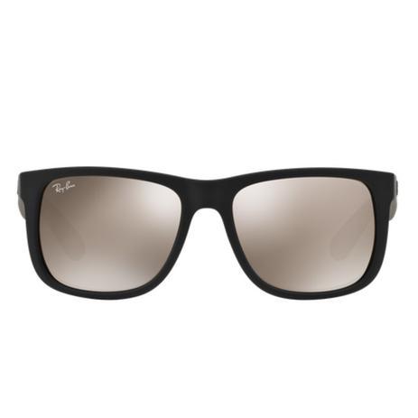 e483ca7634f78 Óculos de Sol Ray Ban Justin RB4165 Preto Lente Marrom - Ray-ban ...