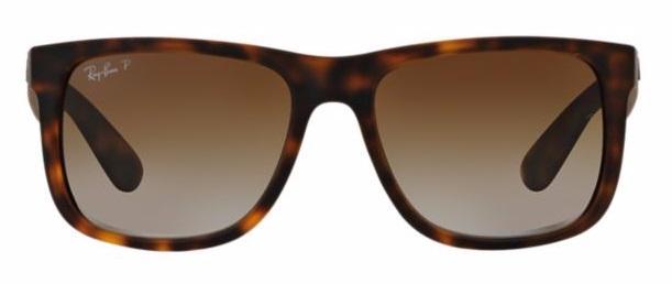 4b868a5d4a280 Imagem de Óculos de Sol Ray Ban Justin RB4165 Tartaruga Lentes Polarizadas