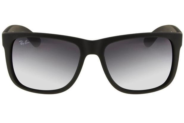 784de3444 Óculos de Sol Ray Ban Justin RB4165L 601/8G/55 Preto Emborrachado ...