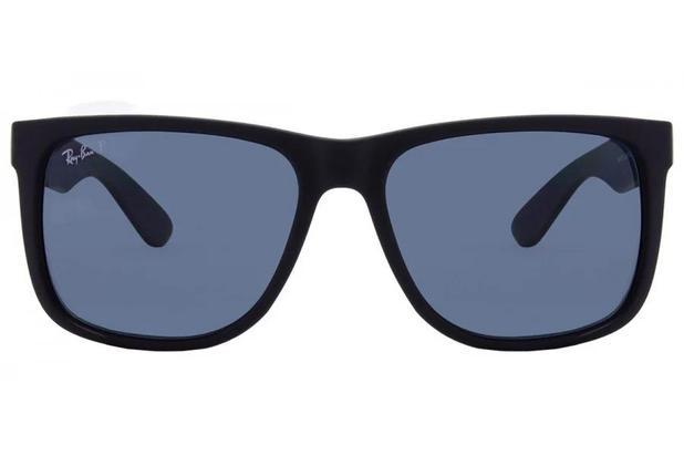 3264d7af6a171 Óculos de Sol Ray Ban Justin RB4165L 622 2V 57 Preto Emborrachado ...