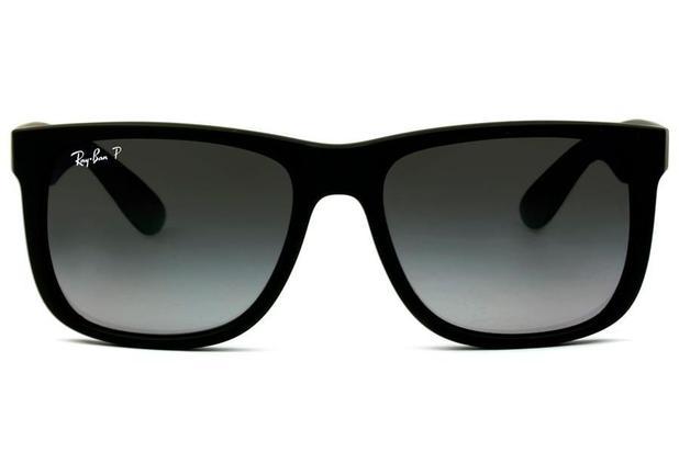 bfcb66d70a1f2 Óculos de Sol Ray Ban Justin RB4165L 622 T3 55 Preto Emborrachado ...