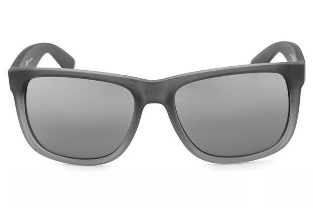 cd0bd30a2 Óculos de Sol Ray Ban Justin RB4165L 852/88/55 Cinza - Óculos de Sol ...