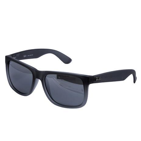 Óculos de Sol Ray Ban Justin RB4165L 852 88 - Acetato Preto Fosco, Lente  Cinza bdc7768a22