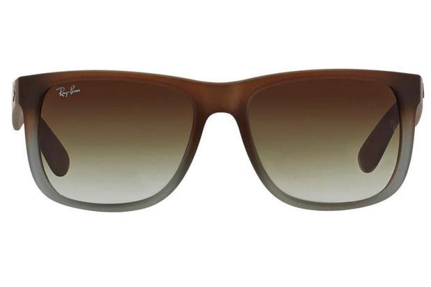 3b8c19fe2 Óculos de Sol Ray Ban Justin RB4165L 854/7Z/55 Marrom Emborrachado/Cinza