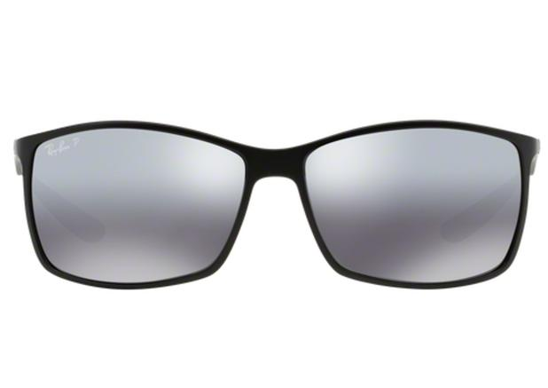 37ce32f05d848 Óculos de Sol Ray Ban Liteforce RB4179 601S8262 Preto Fosco Lente  Polarizada Prata Espelhada Tam 62 - Ray-ban