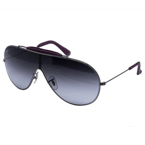 fc0c263c2 Óculos de Sol Ray Ban Máscara RB3416Q 110/8G - Metal Prata e Lente Cinza  Degradê