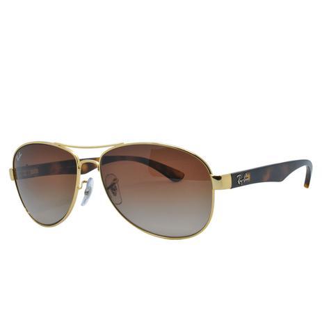 409104994 Óculos de Sol Ray Ban Masculino RB3525L 001/13 - Metal Dourado e Lente  Marrom