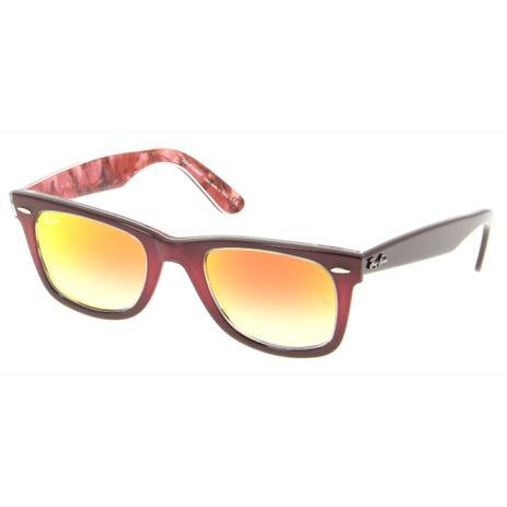816642dfe Óculos de Sol Ray Ban RB2140 1200/4W Vermelho Espelhado ...