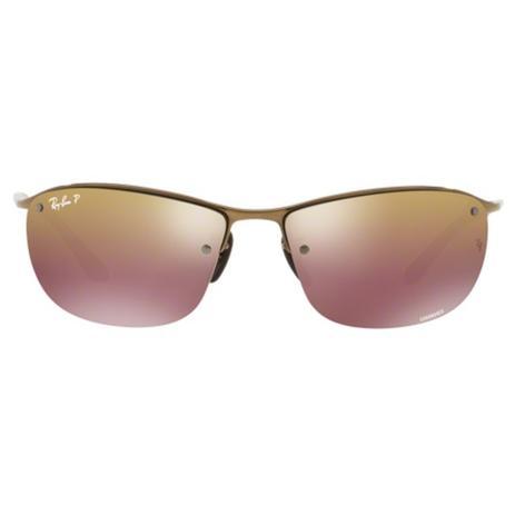 6d6403e276ff1 Óculos de Sol Ray Ban RB3542 Marrom Lente Polarizada Espelhada Chromance -  Ray-ban