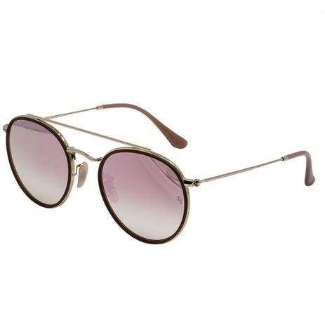 Óculos de Sol Ray Ban RB3647N 001 70 - metal dourado, lente rosa degradê f02070a6b9
