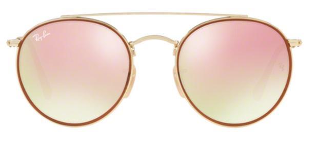 53269b8c5 Imagem de Óculos de Sol Ray Ban RB3647N Ouro Lente Espelhada Rosa Degradê