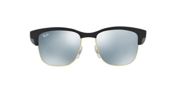 Óculos de Sol Ray Ban RB4239L 62230 Preto Emborrachado Ouro Lente Espelhada  Prata Tam 52 - Ray-ban 5234ef45b8