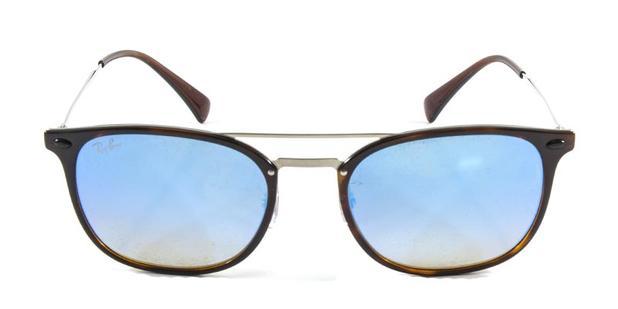 9725d7608 Óculos de Sol Ray Ban RB4286 Tartaruga Lente Espelhada Marrom Degradê Haste  de Titânio - Ray-ban
