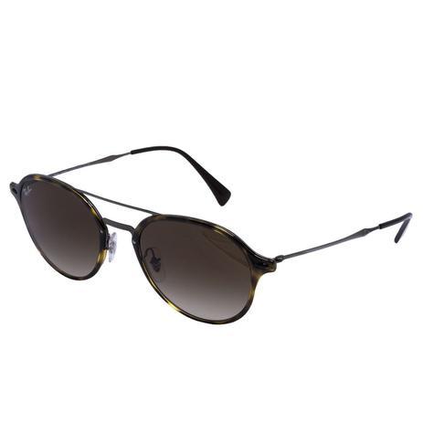 d84a8d6564 Óculos de Sol Ray Ban RB4287 710/13 - Acetato Tartaruga/Metal Preto, Lente  Marrom Degradê