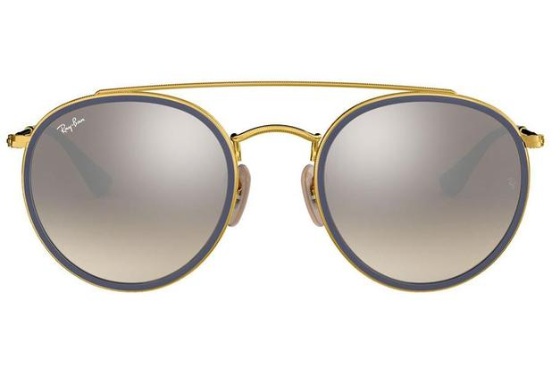 be2d19f51 Óculos de Sol Ray Ban Round Double Bridge RB3647N 001/9U/51 Dourado ...