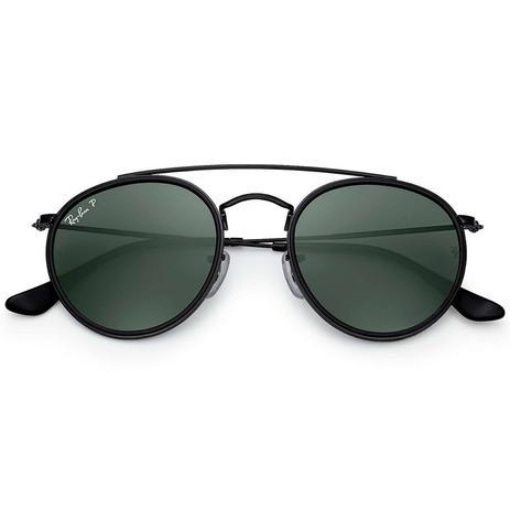Óculos de Sol Ray Ban Round Double Bridge RB3647N 002 58 3P - Óculos ... 6979c888e0