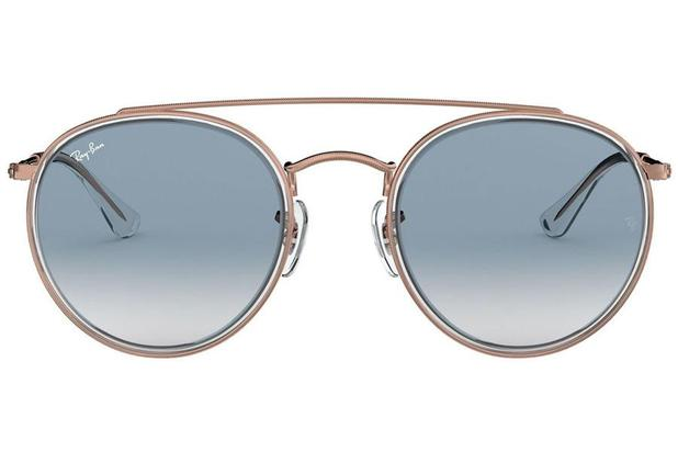 3dc6eb0fc Óculos de Sol Ray Ban Round Double Bridge RB3647N 90683F/51 Cobre ...