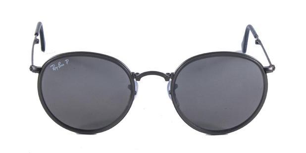 Óculos de Sol Ray Ban Round Folding RB3517 Grafite Polarizado - Ray ... 5772218a54