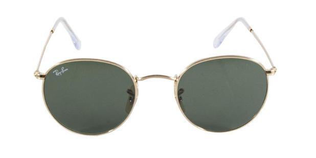 9a5f7d786b81e Óculos de Sol Ray Ban Round Metal RB3447 001 Ouro Lente Verde G15 Tam 50 -  Ray-ban