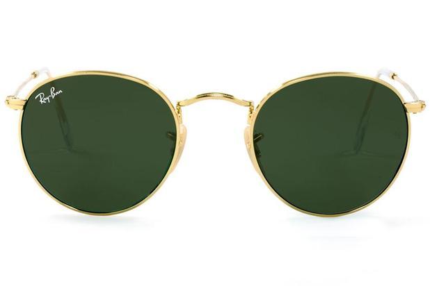 42244aaf0 Óculos de Sol Ray Ban Round Metal RB3447L 001/50 Dourado Polido ...