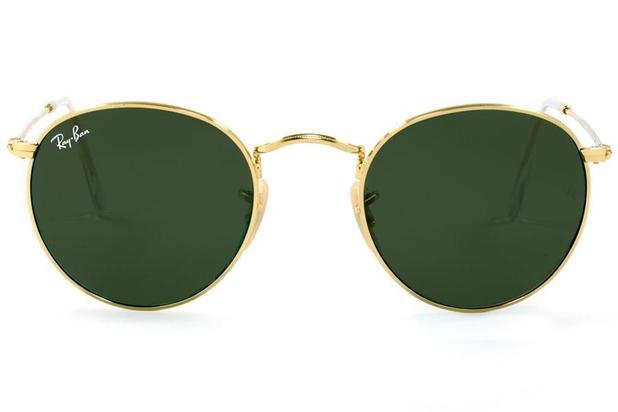 8951bdc590e2d Óculos de Sol Ray Ban Round Metal RB3447L 001 53 Dourado Polido ...