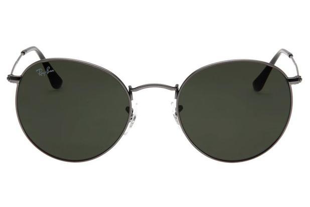 f79fcec7d2b1a Óculos de Sol Ray Ban Round Metal RB3447L 029 53 Preto - Óculos de ...