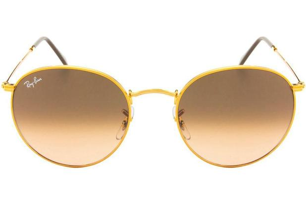 e7af02af2 Óculos de Sol Ray Ban Round Metal RB3447L 9001A5/53 Dourado - Óculos ...
