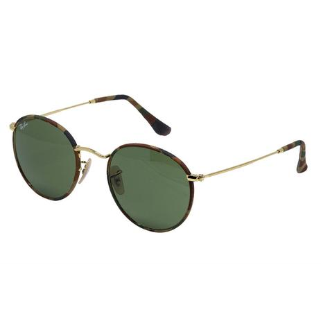 58a7cb96fb8d1 Óculos de Sol Ray Ban Round Metal Unissex RB3447 - Metal e Tecido Militar