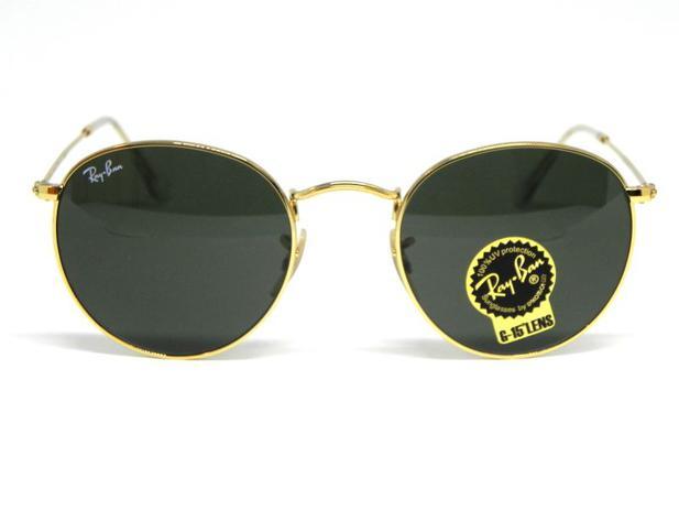 56a386ed4 Oculos de sol Ray Ban Round RB 3447L 001 50 - - - Magazine Luiza