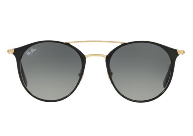 Óculos de Sol Ray Ban Round RB3546 18771 Preto Lente Tam 52 - Ray ... 9d115d1996
