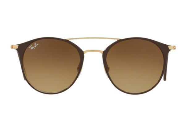 Óculos de Sol Ray Ban Round RB3546 900985 Marrom Lente Tam 52 - Ray ... 9cae3d0683