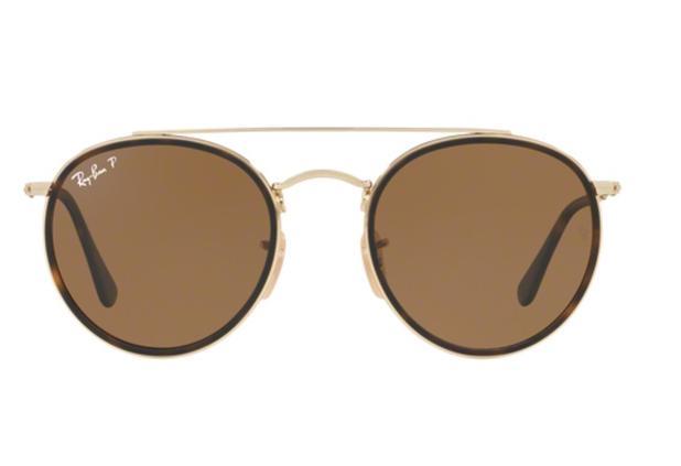 9edb2ba67 Menor preço em Óculos de Sol Ray Ban Round RB3647N 00157 Ouro Lente  Polarizada Tam 51