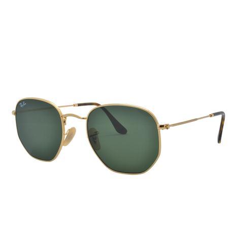 257a6544572dd Óculos de Sol Ray Ban Unissex Hexagonal RB3548N 001 54 - Metal Dourado