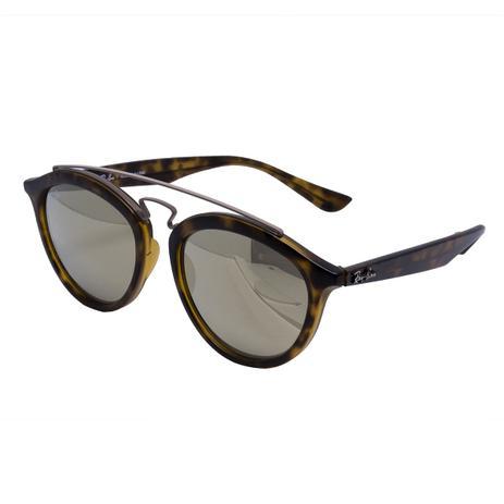 6b86828486f3d Óculos de Sol Ray Ban Unissex New Gatsby II RB4257L 626 B9 - Acetato  Tartaruga Marrom e Lente Dourad