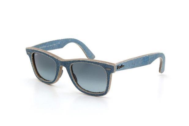 5bbc70767 Óculos de Sol Ray Ban Unissex Tecido Jeans Degradê Azul - Ray-ban ...