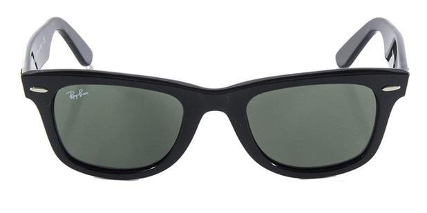 c5d908d922c18 Óculos de Sol Ray Ban Wayfarer Clássico Original RB2140 Preto Polido Lente  Tam 50 - Ray-ban