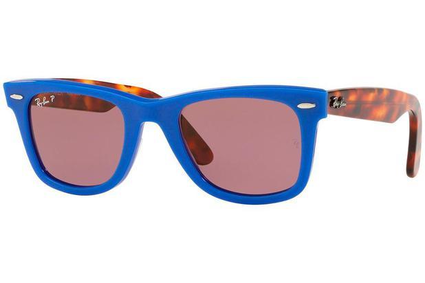 56efd49b8b0ba Óculos de Sol Ray Ban Wayfarer RB2140 1241W0 50 Azul - Óculos de sol ...