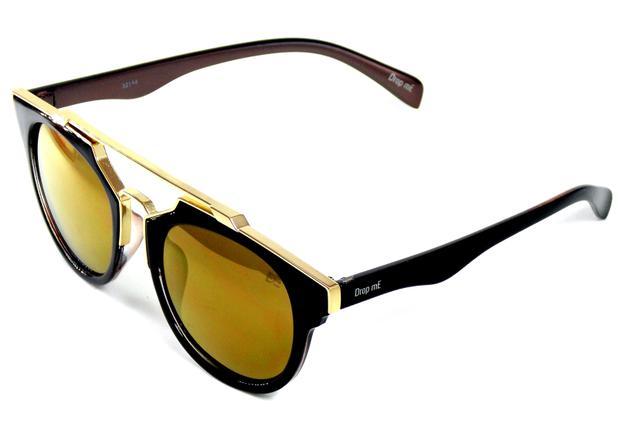 f54453a9c Menor preço em Óculos de Sol Redondo Drop mE Premium Lentes Bronze - Drop  me acessorios