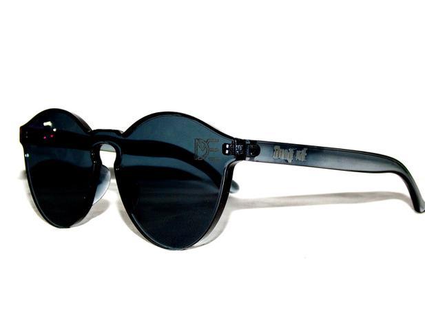 dee746f9e336c Óculos de Sol Redondo Drop mE Translucido Glass Preto - Drop me acessorios