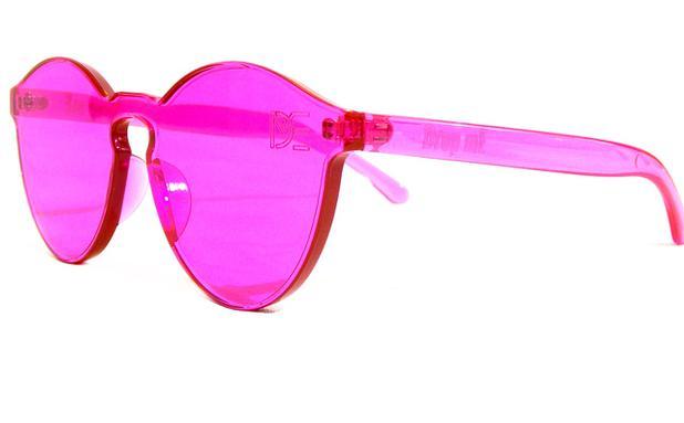 bdb7752409848 Óculos de Sol Redondo Drop mE Translucido Glass Rosa - Drop me acessorios