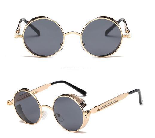 12f06dddf Óculos De Sol Redondo Haste com Mola Vintage Retrô John Lennon - Gótico -  Vinkin