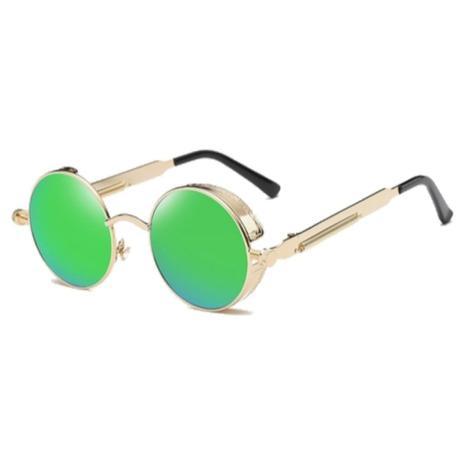 2bf9499e9 Menor preço em Óculos de Sol Redondo Retrô Vintage c/ Molas Parafusos Verde  - Ilook