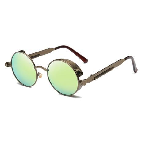 87f55e230 Óculos de Sol Redondo Retrô Vintage c/ Molas Parafusos Verde - Ilook
