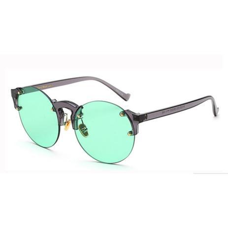 e942ecb7b Menor preço em Óculos de Sol Redondo Retrô Vintage Unissex Wong Verde -  Ilook